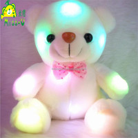 High Quality Stuffed Soft Plush LED Toys Night Lighting Colorful Bear Glowing Plush Toy