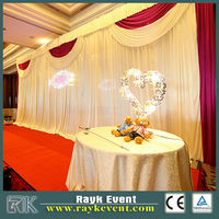 RK HOT Wholesale used pipe and drape for sale, event wedding aluminum backdrop stand pipe drape