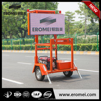 Professional traffic changeable message board sign trailer