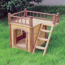 wholesale wooden flat roof dog house