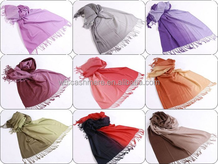 High quality Fashion women Gradient cashmere pashmina shawls, imitation cashmere scarf