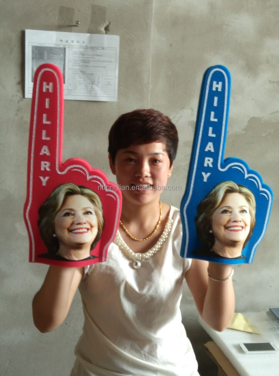 factory hot sale! welcomed and colourful cheering foam hand