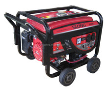 Key start 2.5kw portable gasoline generator with wheels kit
