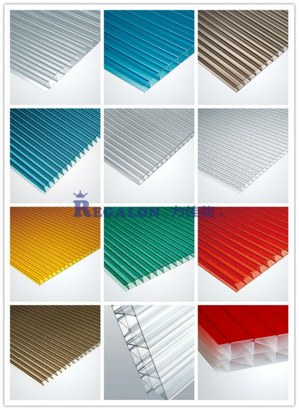 Polycarbonate Sheet Pricing : Colored multiwall polycarbonate roofing sheet price buy