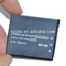 720mah NP-60 Camera Battery for CASIO Exilim EX-Z80BK EX-Z85BK