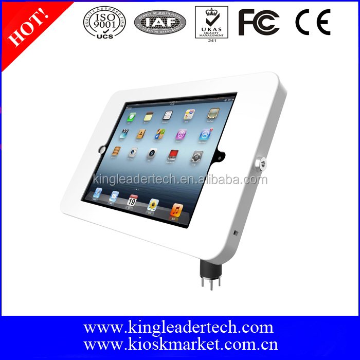 "Desktop mounted iPad/tablet stand with flexible goose neck,suitable for 9.7"" iPad Series"