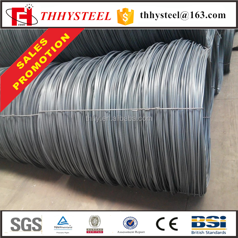 Deformed rebar / hrb 400 high carbon steel wire rod in coil