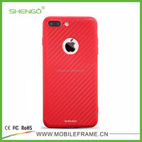SHENGO Hot Selling Ultra Thin Mette Surface Carbon Fiber Texture Soft TPU for iPhone 5 Mobile Phone Case