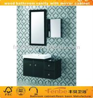 Stock wood home furniture(mirror cabinet and side cabinet)