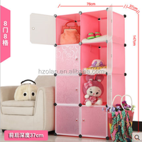 Bedroom Furniture wardrobe storage wardrobe folding plastic cupboard for children& baby