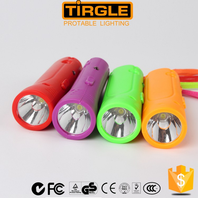 ABS plastic led mini rechargeable flashlight with hand pressing