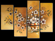 Hand Painted Flower Wall Canvas Art/ Canvas Art Group Paintings for sale