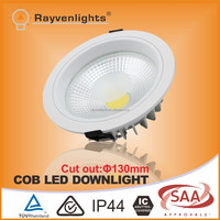 Dimmable COB LED downlight 12W to 30W TUV SAA approval