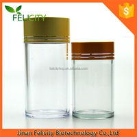 Food Grade Metal Top Cap Plastic PET 250 Clear Bottle And Jar