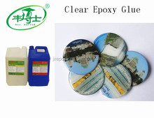 Two Components Soft Crystal Epoxy Resin Glue For Stickers. Trademarks Surface