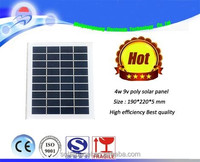 9V 4W high efficient mono-crystalline polycrystalline solar Panel small solar cell PV module solar Kits