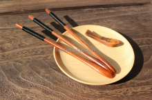 High quality natural wood salad mixing spoon/ honey spoon