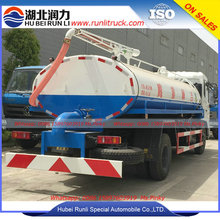 12000 Litres 4x2 vacuum toliet truck sludge transportation truck with water cycle vacuum pump cheaper price for sales