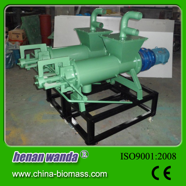 cow dung dewatering / poultry manure drying machine