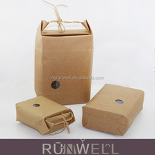 Food cosmetic gift packaging kraft paper bag with window