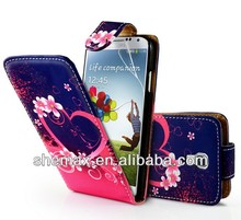 Love Heart Flip Case For Samsung Galaxy S4 IV I9500