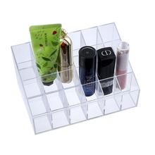 High Quality Insert Rectangle Transparent Clear Plastic 24 Compartment Jewelry Displays Tray