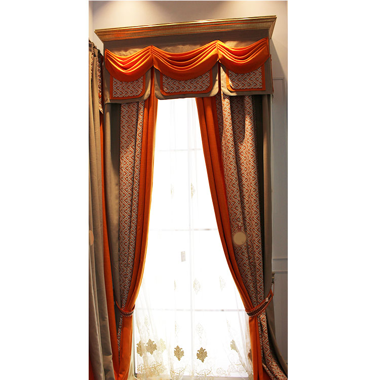 electric blackout foldable canopy gradient color door curtains