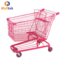 OEM Retail Metal Supermarket Shopping Trolley For Store