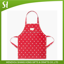 colorful red with spot kitchen apron for maids/custom fashion waiter apron