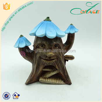 Indoor decorative polyresin garden fairy house resin home decor