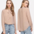 long sleeve lady blouse new design