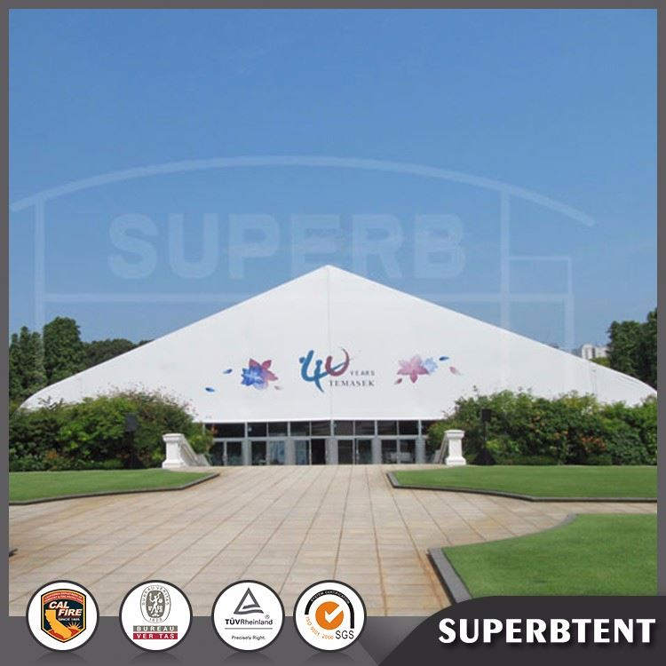 Big curve outdoor swimming pool cover tent