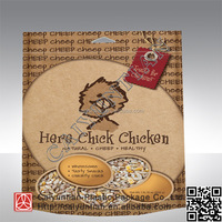 Matte finished stand up flat bottom chicken food package in China