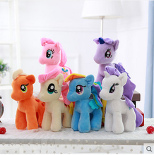 2015 Full set rainbow horse animal My Little Pony soft stuffed plush toy
