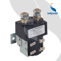SAIPWELL 2 Pole Single Phase 100A 24V DC Magnetic Contactor