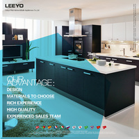 Modular many color custom combinations PVC Kitchen Cabinet from China
