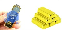 high quality Gold bar usb key flash memory stick custom usb pen drive