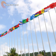 6-100 메터 Custom Flag 극 Stainless Steel Flag 극 & Aluminium Flag 극