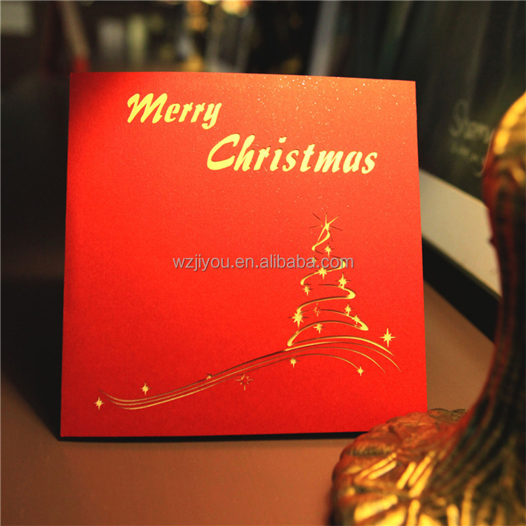 Handmade Pop Up 3D Christmas Greeting Cards