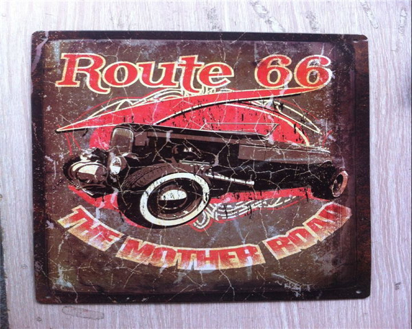 Custom vintage metal sign,retro embossed wholesale metal poster plaque tacker sign