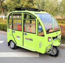 China new design hot sell closed cabin electric passenger motor tricycle tuk tuk with MP3 player
