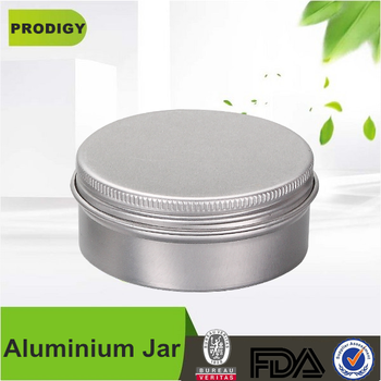Custom 30ml 50ml 60ml 100ml 120ml 150ml 200ml Round Aluminum Cosmetic Cream Jar For Cosmetics