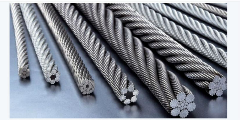 galvanized steel wire rope price DIN3066 6x36WS+IWRC