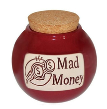 Funny Money Coin Bank Ceramic Money Jar with Cork Lid