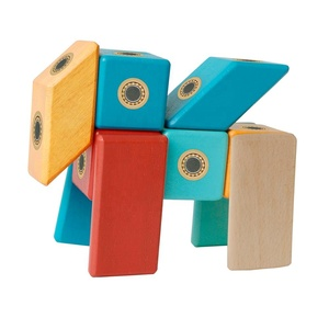 Toy Manufacturer Wooden Magnetic blocks Educational Materials for Babies toys wooden games