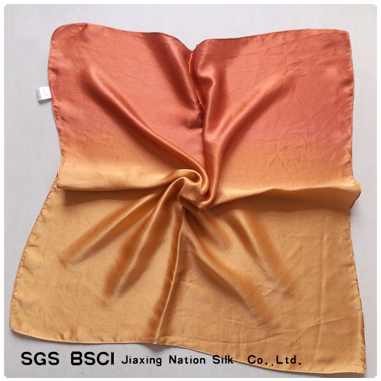 100% pure silk handkerchief gradient scarf