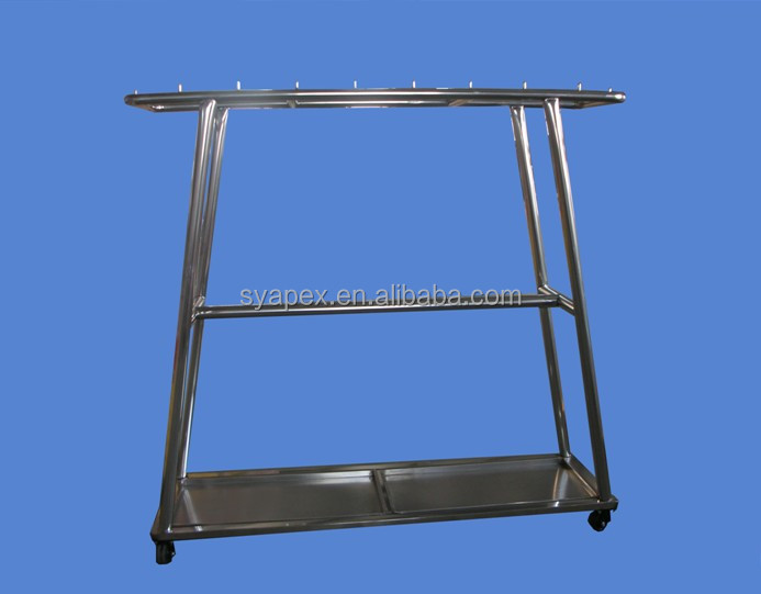 APEX custom make supermarket stainless steel double row meat hanging rack/meat hanger/meat hanging equipment