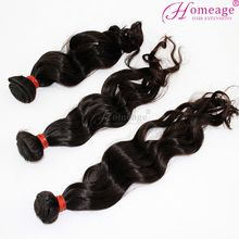 homeage wholesale full bottom human hair extension brazilian virgin hair weave