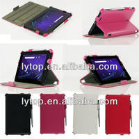 leather side flip case for asus fonepad me371