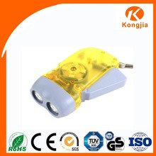 CE, RoHS, GS Emergency Light 2 Led Hand Crank Generator with Torch Light
